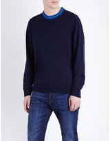Ps By Paul Smith Contrast Neck Wool-blend Jumper