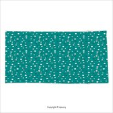 Vipsung Microfiber Ultra Soft Hand Towel Retro Nostalgic White Polka Dots Pattern With Little Color Droplets Oval Forms Abstract Artwork Teal For Hotel Spa Beach Pool Bath