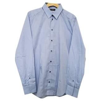 Dolce & Gabbana Blue Cotton Shirts