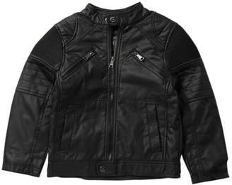 Urban Republic Faux Leather Ribbed Jacket (Big Boys)