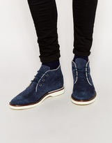 Lacoste Sherbrooke Suede Boots - Blue