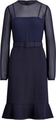 Ralph Lauren Georgette-Jersey Dress
