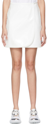 Emilio Pucci White Faux-Leather Patent Miniskirt