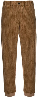 Giorgio Armani Textured Straight Leg Trousers