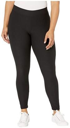 Hue Lightweight Knit Leggings (Black) Women's Casual Pants