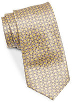 Black Brown 1826 Patterned Silk Tie
