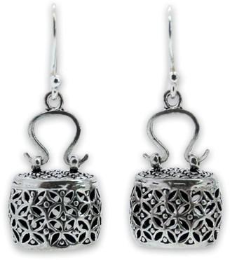 "Novica Artisan Crafted Sterling ""Evening Bag"" Earrings"
