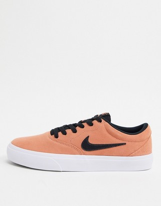 Nike SB Charge Suede trainers in dusty orange
