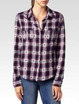 Paige Mya Shirt - Black / Beaujolais Jacquard Plaid