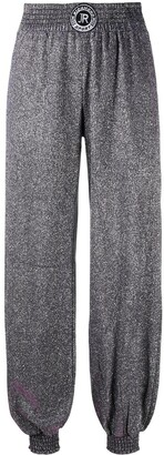John Richmond Elasticated Glitter Trousers