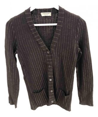 Hermes Brown Cotton Knitwear