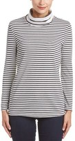 Three Dots Striped Turtleneck Top.