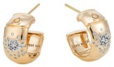 John Hardy Bamboo 18K Gold and Diamond Pavé Hoop Earrings