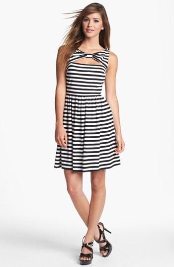 Betsey Johnson Stripe Fit & Flare Dress