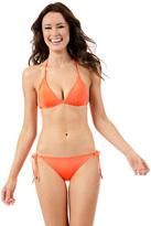 Voda Swim Neon Orange String Bikini Bottom