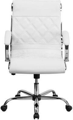 Latitude Run Mid Back Executive Chair Upholstery Color: White