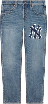 Gucci Tapered Yankees Logo Jeans