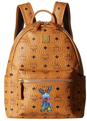 MCM Rabbit Backpack Small (Cognac) Backpack Bags