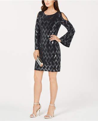 Jessica Howard Petite Cutout Sequin Dress
