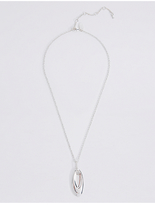 M&S Collection Silver Plated Mini Organic Necklace