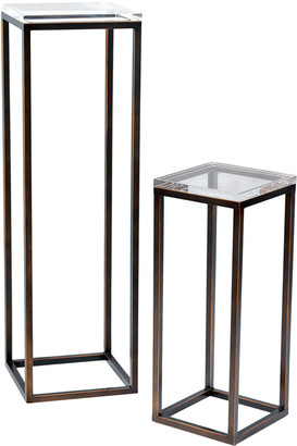 Port 68 Set Of 2 Drake Bronze/Lucite Pedestals