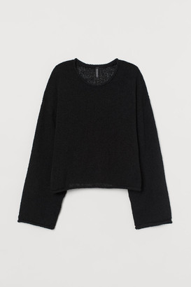 H&M Boucle Sweater - Black