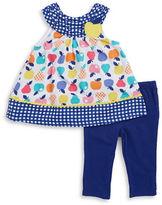 Kids Headquarters Girls 2-6x Little Girls Apple-Print Tunic and Leggings Set