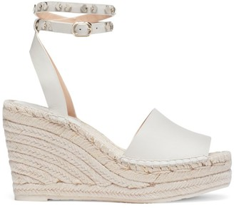 Kate Spade Frenchy Leather Espadrille Wedge Sandals