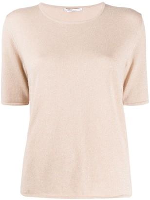 Agnona Short-Sleeve Knit Top