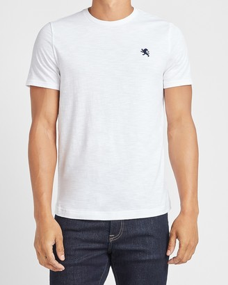 Express Small Lion Slub Cotton Crew Neck T-Shirt