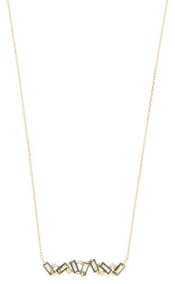 Suzanne Kalan Diamond, Topaz & 14kt Gold Necklace - Yellow Gold