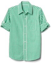 Gap Gingham poplin convertible shirt