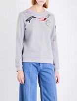 Valentino Sequin-embellished jersey sweatshirt