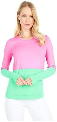 Lilly Pulitzer UPF 50+ Renay Sunguard (Prosecco Pink/Gustavia Green Color-Block) Women's Swimwear