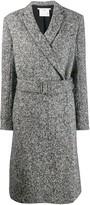 Stella McCartney melange knit wool coat