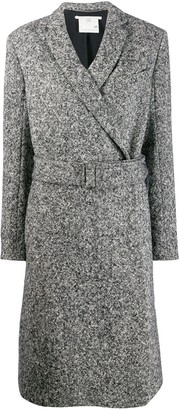 Stella McCartney Melange Knit Wool Coat