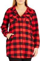 City Chic Plus Size Women's Plaid Boyfriend Shirt