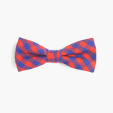 J.Crew Boys' cotton bow tie in blue-red gingham