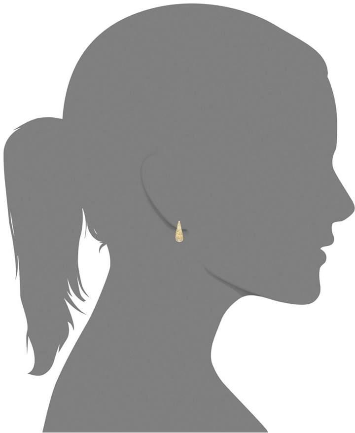 Macy's 14k Gold Earrings, Diamond-Cut Mesh Puff Earrings
