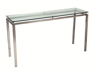 clear Reflective Console Table Glass