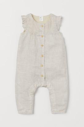 H&M Linen-blend romper suit