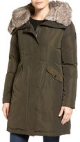 Vince Camuto Faux Fur Trim Hooded Down & Feather Parka