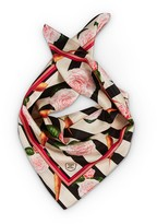 Texas And The Artichoke Medium Carrots & Roses Silk Scarf No Border