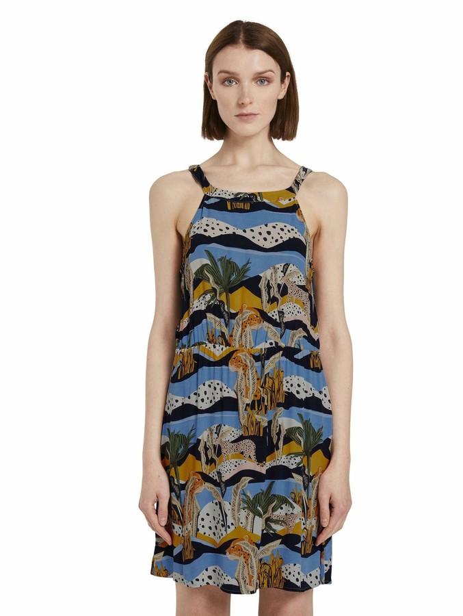 Tom Tailor Women's Nackenhalter Dress