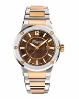 Salvatore Ferragamo 44mm Stainless Steel Watch, Brown/Gold