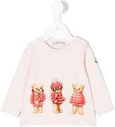 Moncler teddy embroidered sweatshirt - kids - Cotton/Spandex/Elastane - 3-6 mth