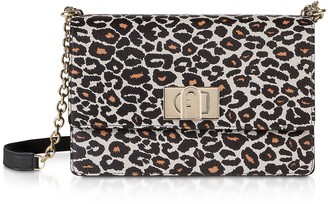 Furla Animal Printed Leather 1927 S Crossbody Bag 24