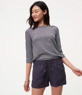 LOFT Linen Blend Drawstring Shorts