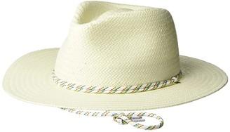Rag & Bone Packable Straw Fedora (Ivory 1) Fedora Hats