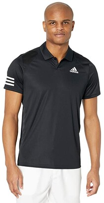adidas Club 3-Stripes Polo (White/Black 2) Men's Clothing